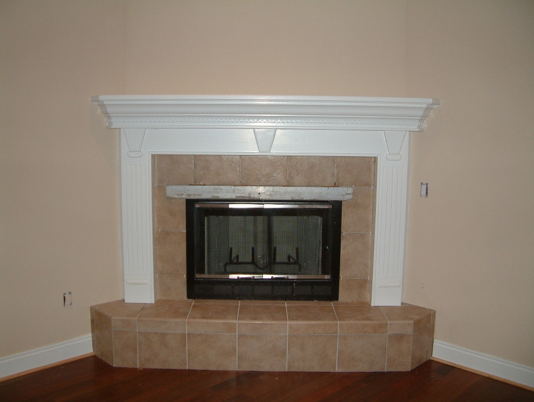 Fireplace mantels trim work door replacement rotten wood repair cabinets tile painting - Modern fireplace ideas for your home ...