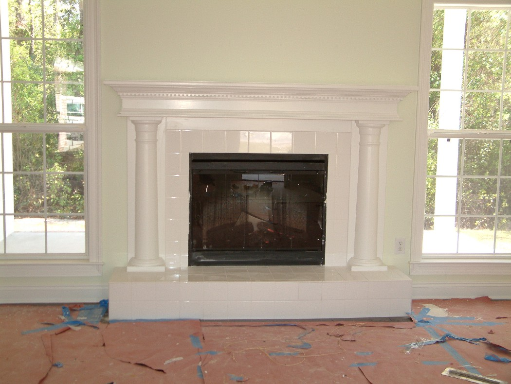 Fireplace Mantels Trim work, door replacement, rotten wood repair ...